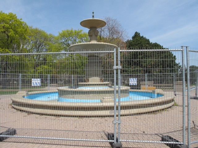 fountain behind bars - Is it a sin to Blog about Gage Park without a picture of the Fountain?